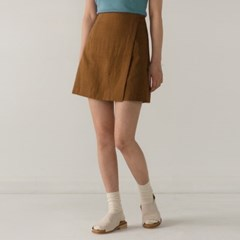 A-line wrap mini skirt