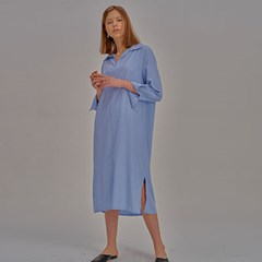 Natural Long One Piece_Sky blue_(798169)