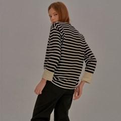 Multi Color Stripe T-Shirt_Black_(798167)