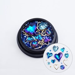 스페셜 로맨틱 하트믹스스톤-블루(case) /네일스톤_(2643796)