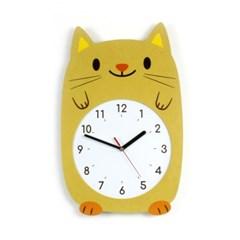 무소음 아이방 벽시계 동물친구들 - 고양이