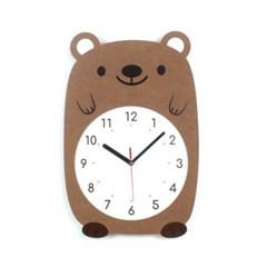 무소음 아이방 벽시계 동물친구들 - 곰