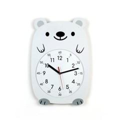 무소음 아이방 벽시계 동물친구들 - 북극곰