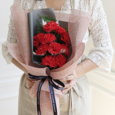 10송이 비누카네이션 허니테일꽃다발 [2color]_(575801)