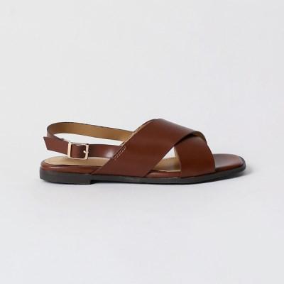 Rough cross strap sandals