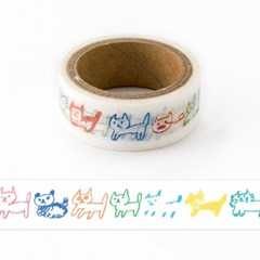 [AIUEO] Masking tape - Neko border