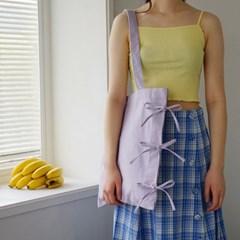 ribbon detailed cotton bag_violet