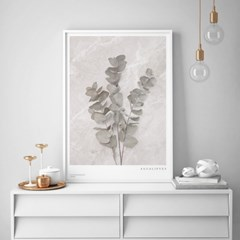 대리석 유칼립투스 인테리어 액자 포스터