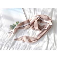 Hoega Cotton Diamond Knit Scarf
