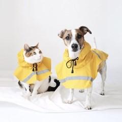 MIYOPET  강아지 고양이 비옷 레인코트 우비 대형견 중소형견