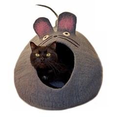 [다르마독 카르마캣] 생쥐 모양 하우스 회색(Gray)
