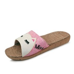 kami et muse Cats embroidery slippers_KM18s174