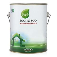 순앤수 수성페인트 무광 4L 실내 벽면/벽지용