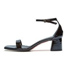 modern square sandal black_5cm (소가죽)