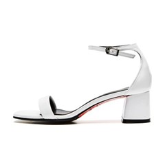 modern square sandal white_5cm (소가죽)