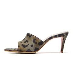edge point mule leopard khaki-7cm (양가죽)