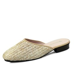 kami et muse Natural mash flat slippers_KM18s176