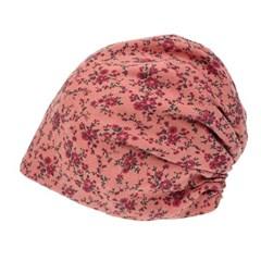 [더그레이S]DSS16.꽃나염 린넨 여성 비니 엄마 모자