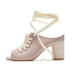 lace up sandal L.pink_7cm (소가죽)