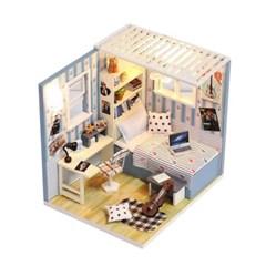 [adico] DIY 미니이처 하우스 - 블루 텍스쳐 하우스_(836184)