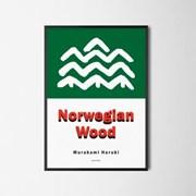 유니크 일본 인테리어 디자인 포스터 M 노르웨이숲 하루키