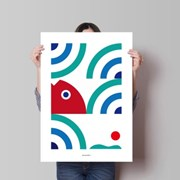 유니크 인테리어 디자인 포스터 M 싱싱한 바다