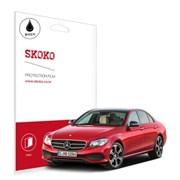 스코코 벤츠 E220D 네비게이션 올레포빅 보호필름 2매_(585551)