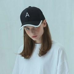 [어나더프레임]A LOGO LINE BALL CAP (BLACK)_(812613)