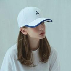 [어나더프레임]A LOGO LINE BALL CAP (WHITE)_(812609)