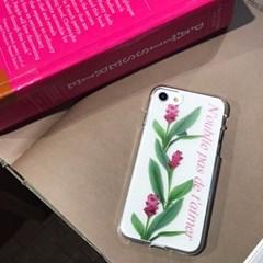 (잘된케이스) flower lettering (젤리) phone case
