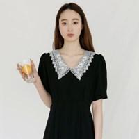 [치즈달] 레이스칼라 롱 드레스