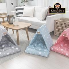 [킹스독] 별 삼각하우스 애견하우스