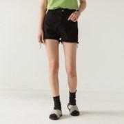 high-waist natural cutting shorts