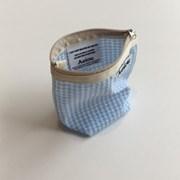 아에이오우 Aeiou Basic Pouch (M size) soft blue check