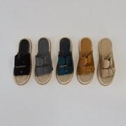 band buckle rattan slipper
