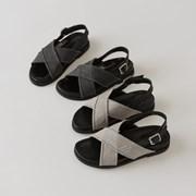 grey tone cross sandal