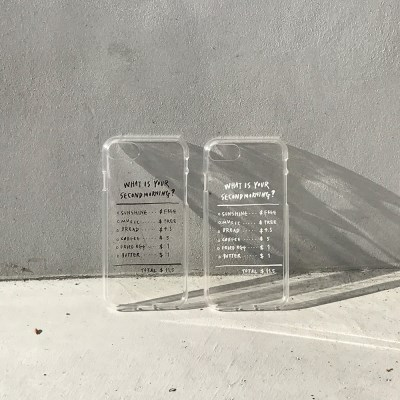 [secondmorning]영수증 젤리케이스