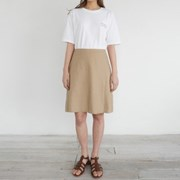 Smooth casual linen skirt