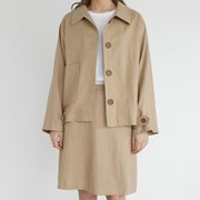 Smooth casual linen jacket