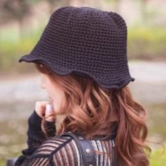 뜨개 버킷햇 모자