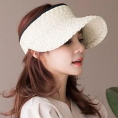 돌돌이 밀짚 썬캡 모자