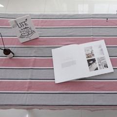 핑크 블라썸 워싱 리넨 테이블 커버