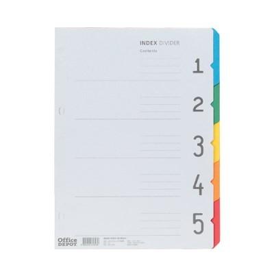 바인더인덱스(색지/5분류/OfficeDEPOT)
