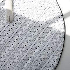 아기 여우 원형 러그 (놀이매트) 90cm