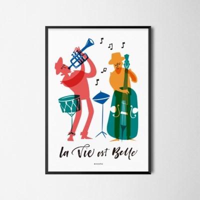유니크 인테리어 디자인 포스터 M 인생은 아름다워 프랑스