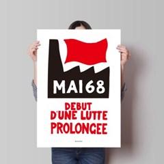 유니크 인테리어 디자인 포스터 M 프랑스 68혁명