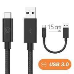 랩씨 3.0 USB C to USB A 충전 데이터 케이블 15cm 맥북_(1982278)