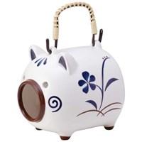 고급 돼지 도기 모기향 용기,그릇 (돼지) _T4404