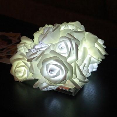 LED 로맨틱 플라워전구 20P (화이트)_(301528900)