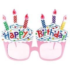 생일 케이크 선글라스 (핑크)_(301526595)